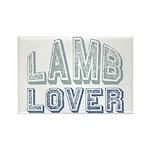 Lamb Lover Sheep Animal 4H Rectangle Magnet (100 p