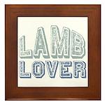 Lamb Lover Sheep Animal 4H Framed Tile