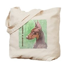 Red Doberman Pinscher 2 Tote Bag