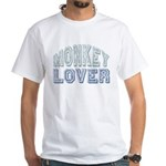 Monkey Lover Primate Zoo Animal White T-Shirt