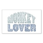 Monkey Lover Primate Zoo Animal Sticker (Rectangul