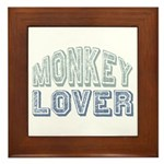 Monkey Lover Primate Zoo Animal Framed Tile
