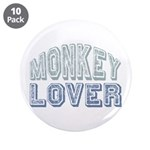 "Monkey Lover Primate Zoo Animal 3.5"" Button (10 pa"