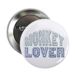 "Monkey Lover Primate Zoo Animal 2.25"" Button (100"