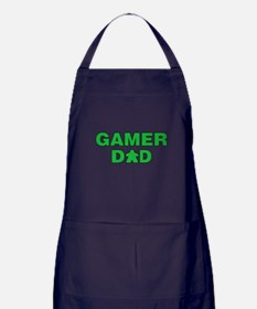 Gamer Dad Green Apron (dark)