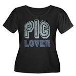 Pig Lover Piglet Farm Animal Women's Plus Size Sco