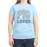 Pig Lover Piglet Farm Animal Women's Light T-Shirt
