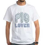 Pig Lover Piglet Farm Animal White T-Shirt
