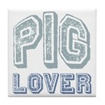 Pig Lover Piglet Farm Animal Tile Coaster