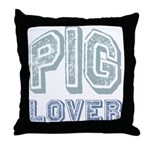 Pig Lover Piglet Farm Animal Throw Pillow