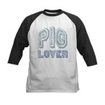 Pig Lover Piglet Farm Animal Kids Baseball Jersey
