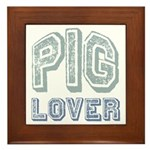 Pig Lover Piglet Farm Animal Framed Tile
