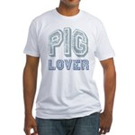 Pig Lover Piglet Farm Animal Fitted T-Shirt