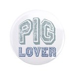 "Pig Lover Piglet Farm Animal 3.5"" Button (100 pack"