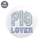"Pig Lover Piglet Farm Animal 3.5"" Button (10 pack)"