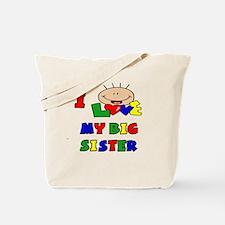 Love My Big Sister BRIGHTS Tote Bag