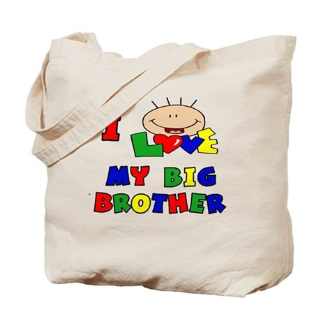 Love My Big Brother BRIGHTS Tote Bag