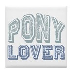 Pony Lover Horse Pet Tile Coaster