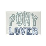 Pony Lover Horse Pet Rectangle Magnet (10 pack)