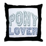 Pony Lover Horse Pet Throw Pillow