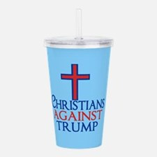 Christians Against Tru Acrylic Double-wall Tumbler