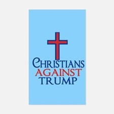 Christians Against Trump Sticker (Rectangle)