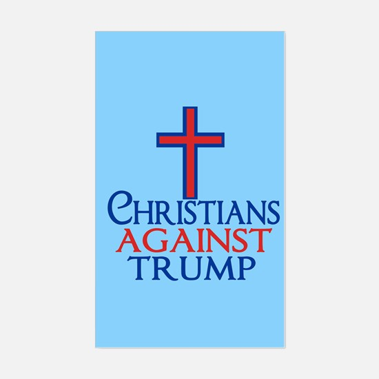 Christians Against Trump Sticker (Rectangle)