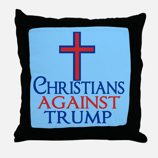 Christians Against Trump Throw Pillow