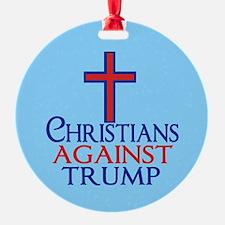 Christians Against Trump Ornament