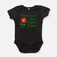 Cute Grandmothers flower garden Baby Bodysuit