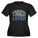 Tiger Lover Wildlife Safari Women's Plus Size V-Ne