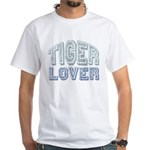 Tiger Lover Wildlife Safari White T-Shirt