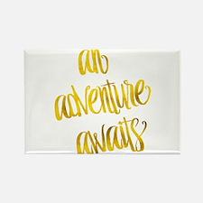 Adventure Awaits Gold Faux Foil Metallic G Magnets