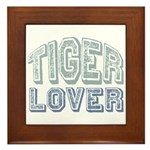 Tiger Lover Wildlife Safari Framed Tile