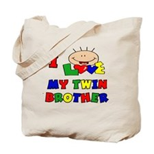 Love My Twin Brother BRIGHTS Tote Bag