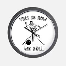 How We Roll Wall Clock