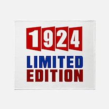 1924 Limited Edition Birthday Throw Blanket