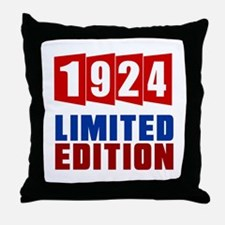 1924 Limited Edition Birthday Throw Pillow
