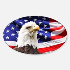 American Flag with Eagle Decal