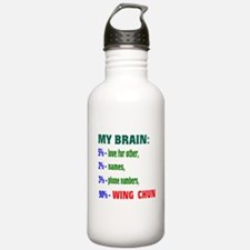 My Brain, 90% Wing Chu Water Bottle