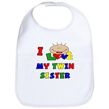 Love My Twin Sister BRIGHTS Bib