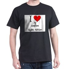 I Love My Welfare Rights Adviser T-Shirt