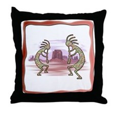 Kokopelli No.1 Throw Pillow