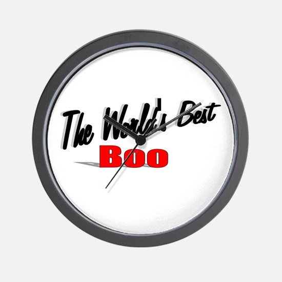 """""""The World's Best Boo"""" Wall Clock"""