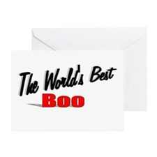 """""""The World's Best Boo"""" Greeting Card"""