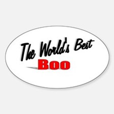 """""""The World's Best Boo"""" Oval Decal"""