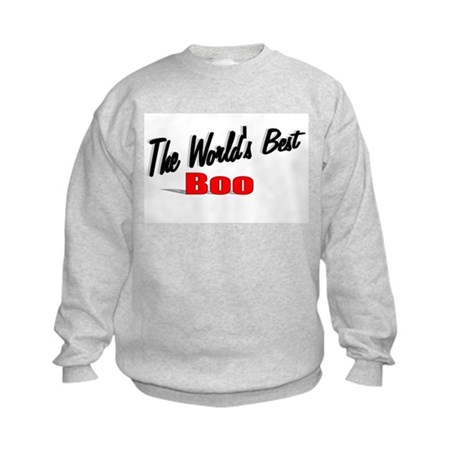 """The World's Best Boo"" Kids Sweatshirt"