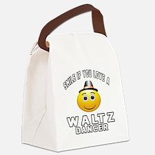 Waltz Dancer Designs Canvas Lunch Bag