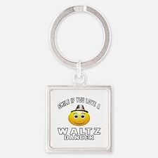 Waltz Dancer Designs Square Keychain