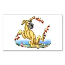 Great Dane Fawn UC Crabby Rectangle Decal